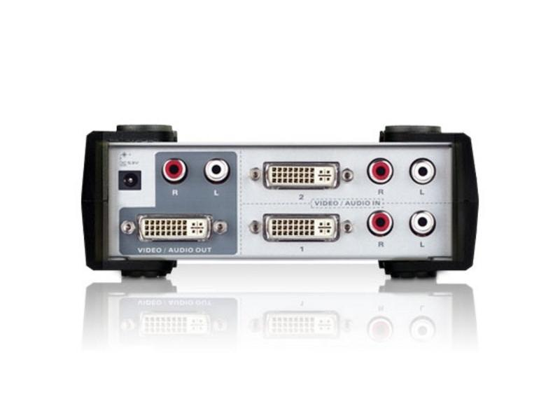 VS261 2 Port DVI and Audio Switch by Aten