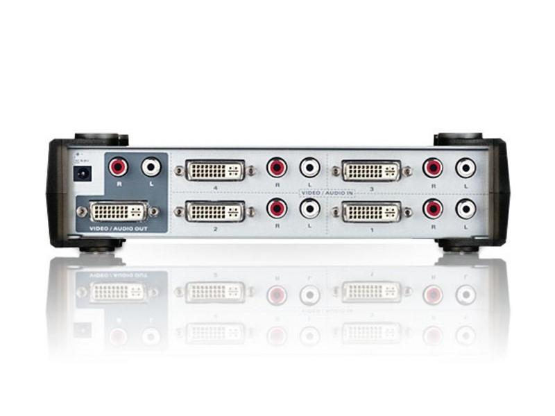 VS461 4 Port DVI and Audio Switch by Aten