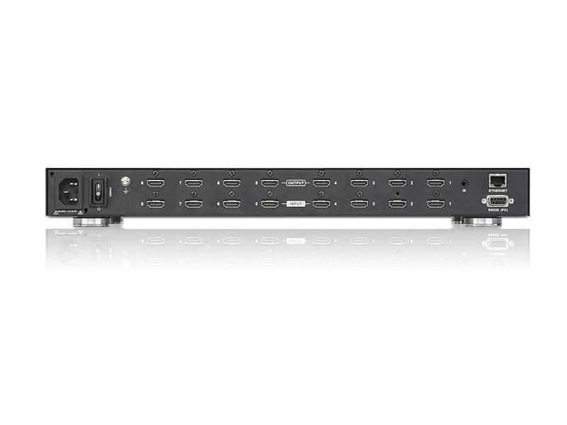VM5808H 8x8 HDMI Scaling Matrix Switcher and Video Wall w fast switching by Aten