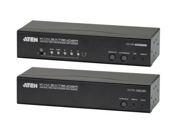 CE775 USB VGA Dual View Cat 5 KVM Extender with Deskew by Aten