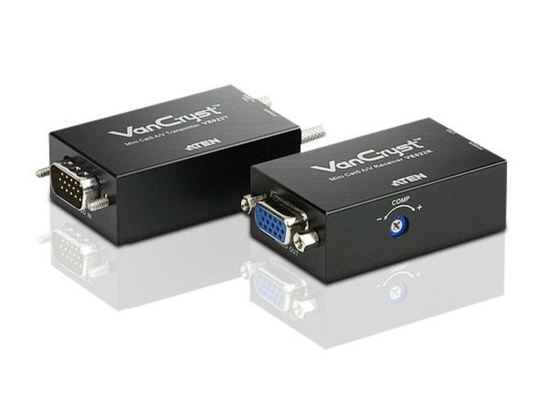 VE022 Cat5 VGA/Audio extender up to 500ft by Aten