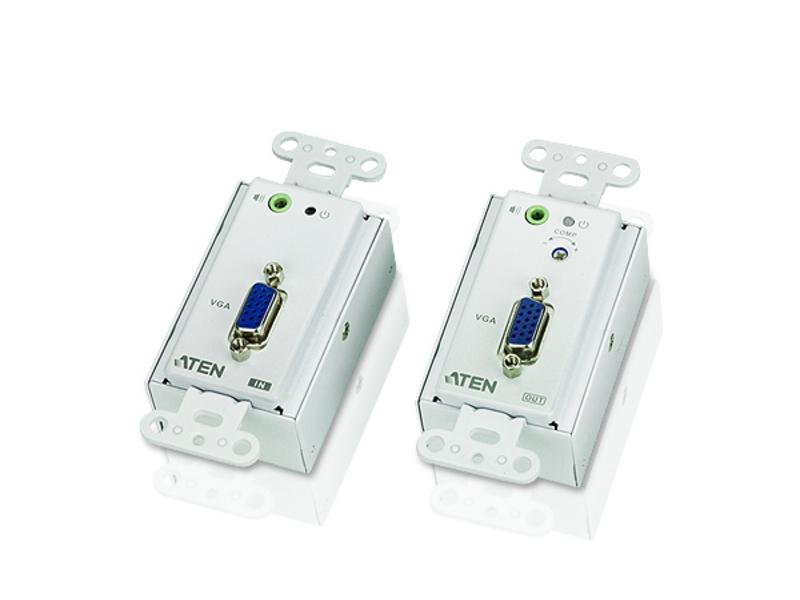 VE156 VGA Over Cat5 Wall plate Extender (Transmitter/Receiver) Kit by Aten