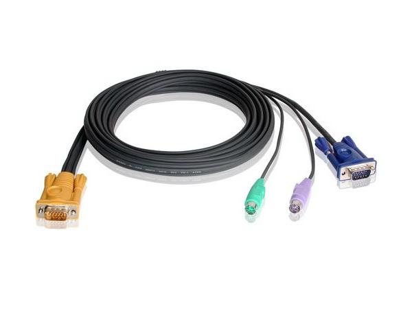 2L5206P SPHD15 to VGA and PS/2 KVM Cable (20ft) by Aten