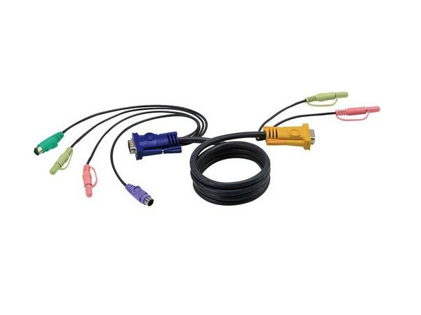 2L5301P SPHD-15 to VGA/ PS/2 and Audio KVM Cable (4ft) by Aten