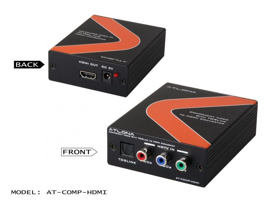 AT-COMP-HDMI Component Video with Optical to HDMI Converter by Atlona