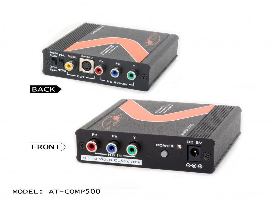 AT-COMP500 Component Video to S-Video and Composite Video Down Converter by Atlona