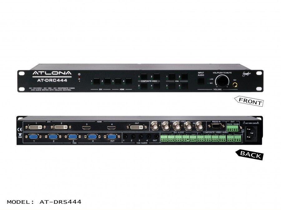 AT-DRC444 DVI/HDMI/VGA Multi-Input Presentation Switcher by Atlona