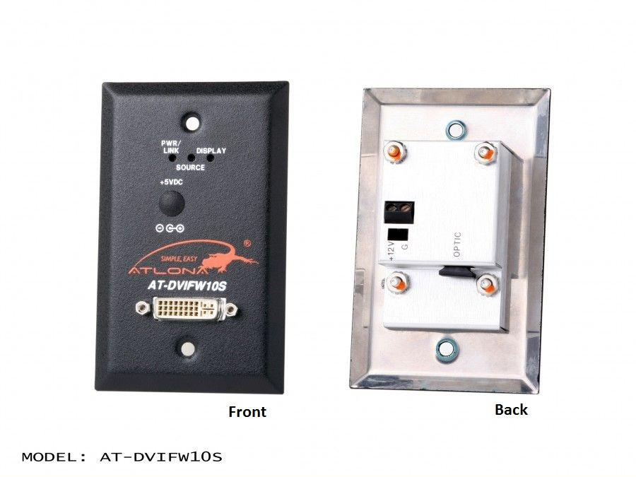 AT-DVIFW10S-b Wall Plate Style DVI Extender (Transmitter) over single Multi Mode Fiber with HDCP/EDID Support by Atlona