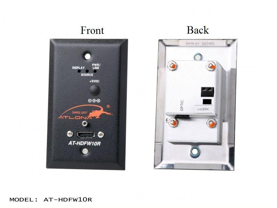 AT-HDFW10R Wall Plate Style HDMI Extender (Receiver) over single Multi Mode Fiber with HDCP and EDID Support by Atlona