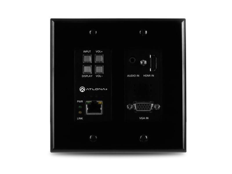 AT-HDVS-200-TX-WP-BLK 2-Input HDMI/VGA Wallplate Switch with Ethernet/Black by Atlona