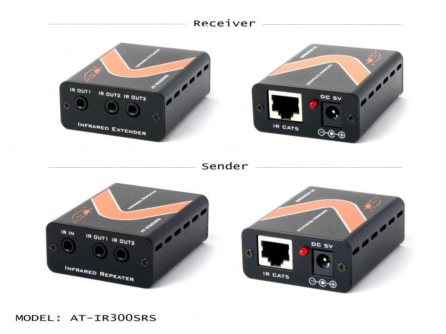 AT-IR300SRS INFRARED EXTENDER (Transmitter/Receiver) Kit up to 1000 FT by Atlona