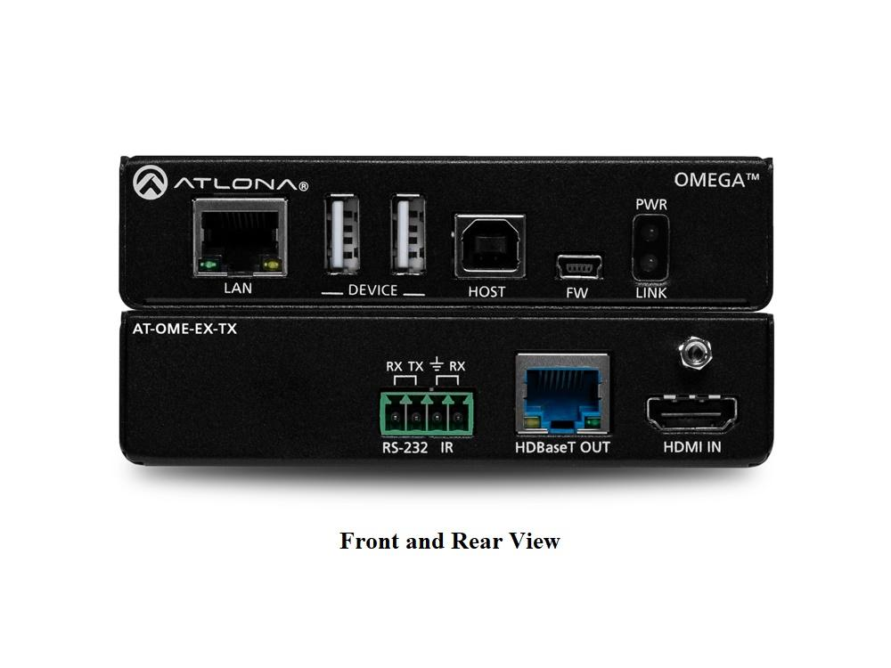 AT-OME-EX-TX 4K/UHD HDMI/HDBaseT Extender (Transmitter) with USB/Control/PoE up to 330ft/100m by Atlona