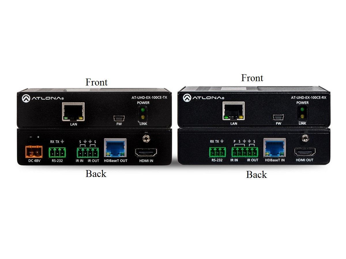 AT-UHD-EX-100CE-KIT 4K/UHD HDBaseT/HDMI Extender POE (Transmitter/Receiver) Kit by Atlona