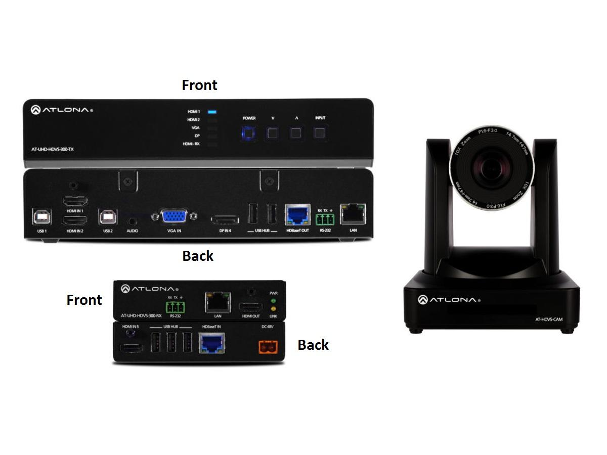 AT-UHD-HDVS-300-C-KIT Soft Codec Conferencing System (HDMI Extender (Transmitter/Receiver) Kit with PTZ Camera) by Atlona