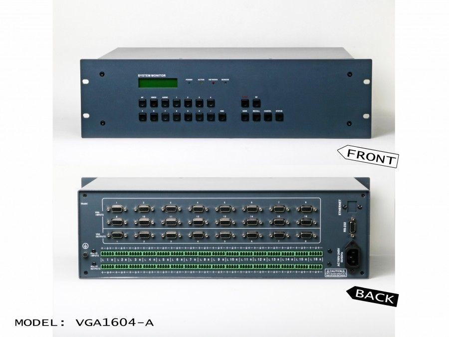 AT-VGA1604-A 16x4 Professional VGA with Audio Matrix Switch by Atlona
