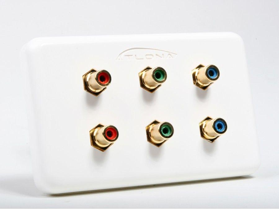 AT80COMP6 Dual Component Video Wall Plate by Atlona