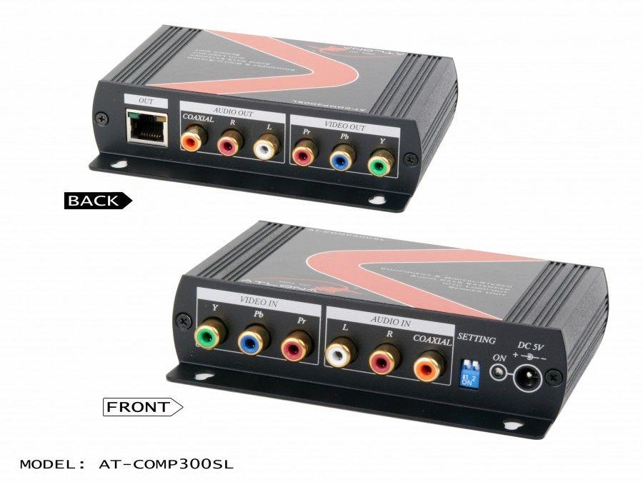 AT-COMP300SL Component video with analog/digital audio cat5/6/7 Extender (Sender) with component loop-out by Atlona