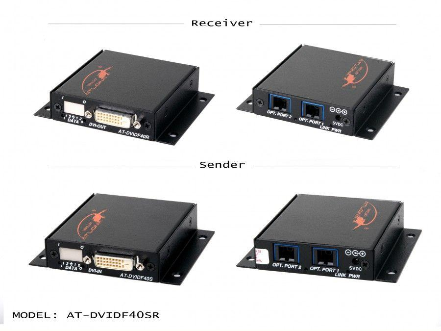 AT-DVIDF40SR DVI Dual Link Extender (Transmitter/Receiver) Kit over 2x MM Fiber by Atlona