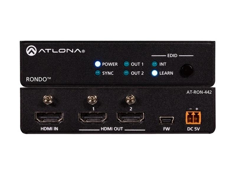 AT-RON-442 4K HDR Two-Output HDMI Distribution Amplifier by Atlona