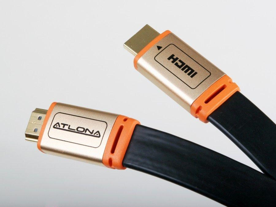 ATF14032B-5 15ft Flat HDMI 1.4 1080p UHD 4K Cable Black - Ethernet/ARC/3D/CL3 Rated by Atlona