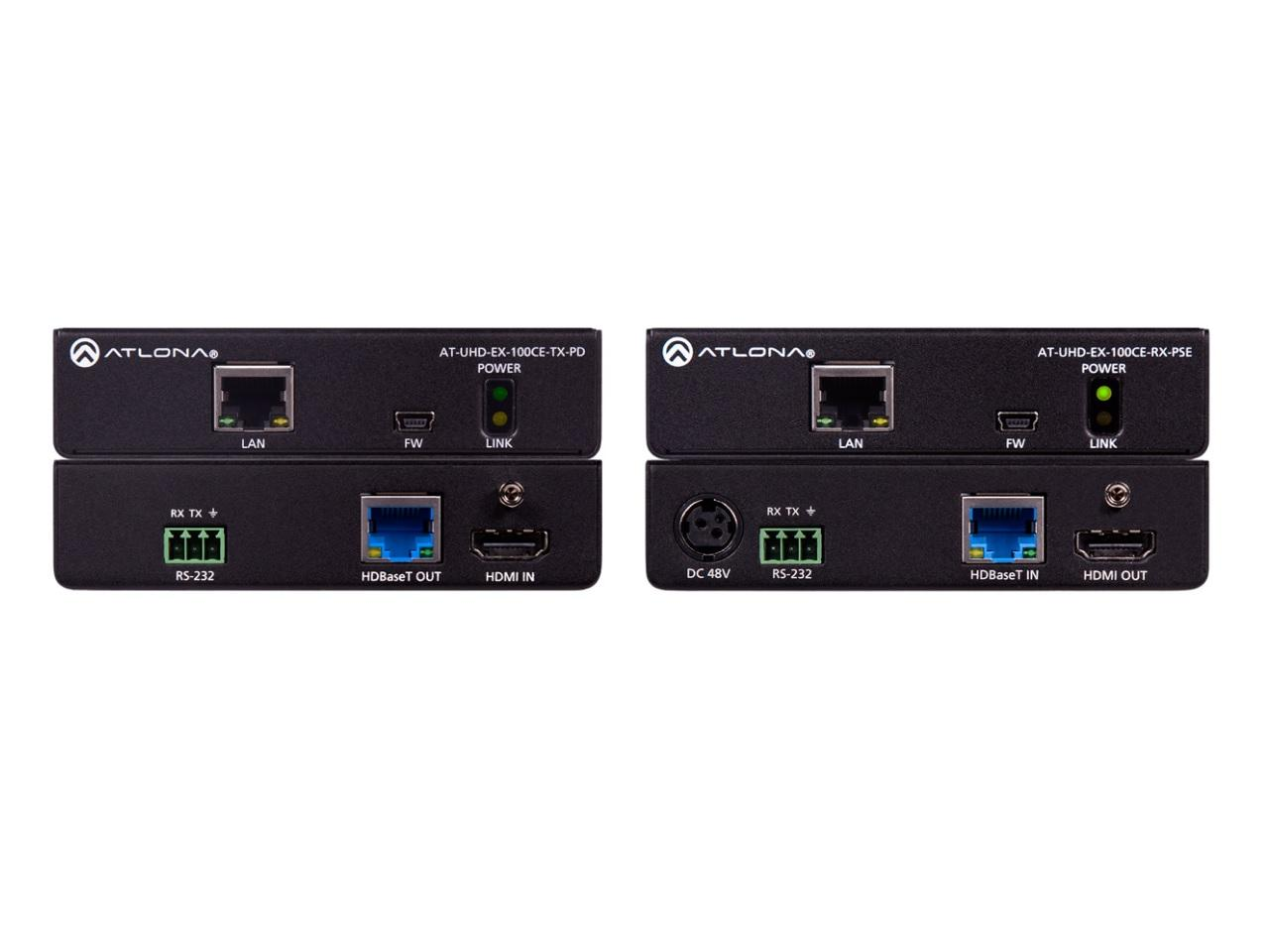 100CER-PoE-EXT 4K/UHD HDMI HDBaseT (Transmitter/Receiver) Kit with Ethernet/Control/PoE by Atlona