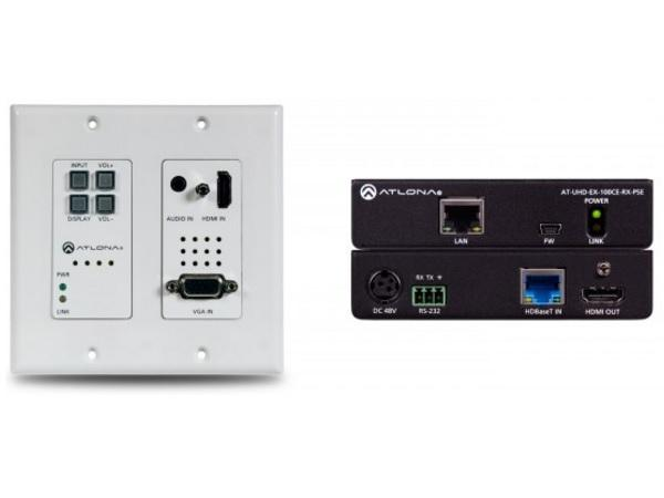 4K-HDVS-WP-EXT 4K/UHD PoE Extender (Transmitter/Receiver) Kit with Wall Plate Switch by Atlona