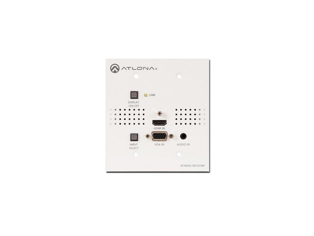 AT-HDVS-150-TX-WP-B 2-In WP Extender (Transmitter) for HDMI/VGA In with HDBaseT Out by Atlona