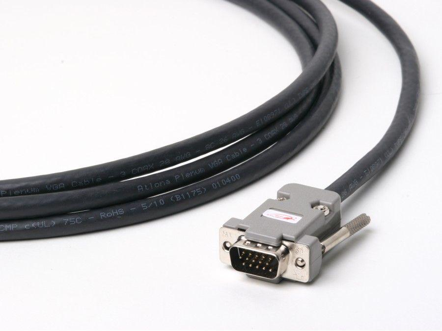 ATP-18009-2 6ft Plenum VGA (HD15) Male/Male Cable (up to QXGA 2048x1536) by Atlona