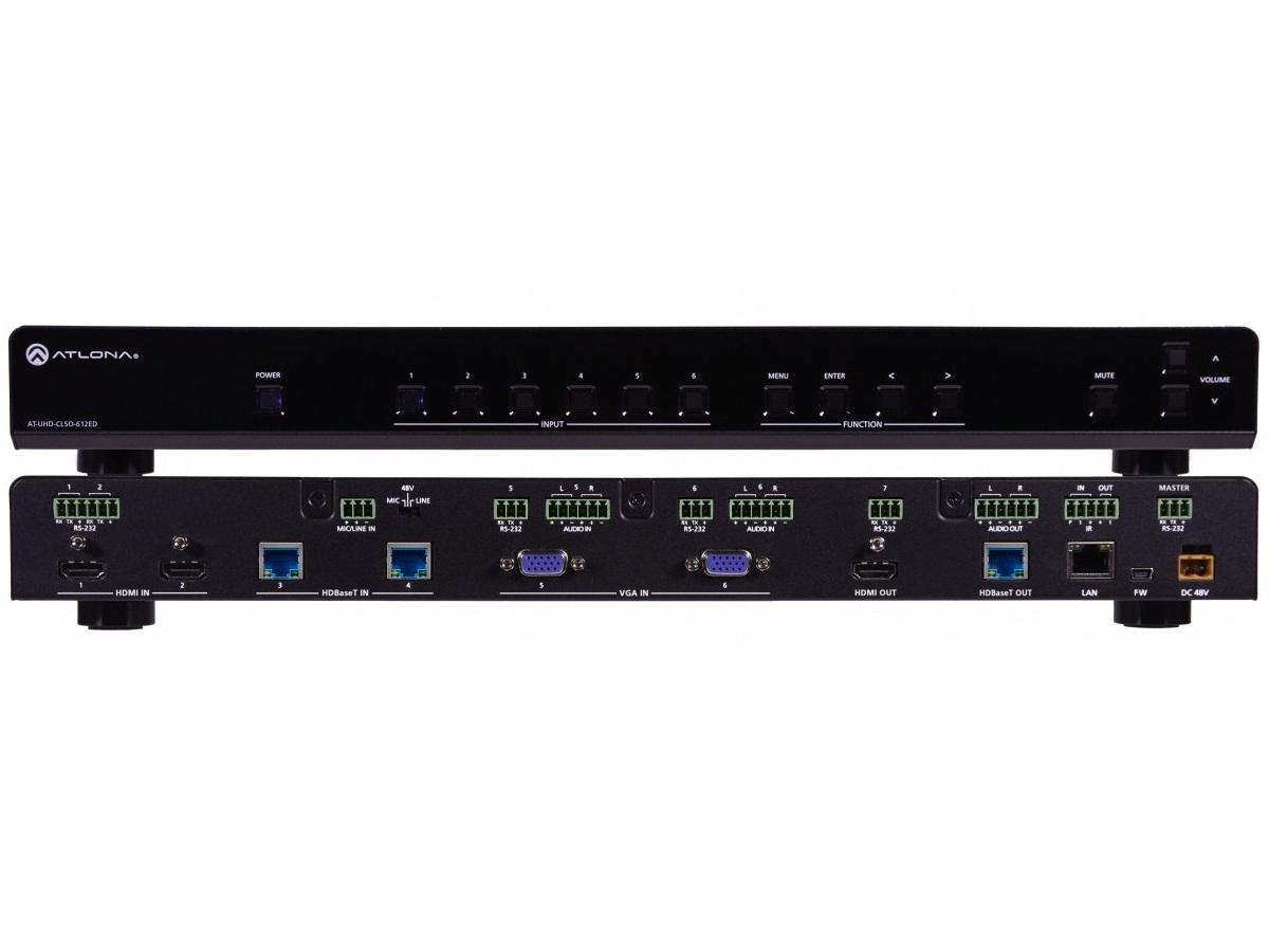 AT-UHD-CLSO-612ED 4K/UHD 6-In Multi-Format Switcher w HDMI/HDBaseT Out by Atlona