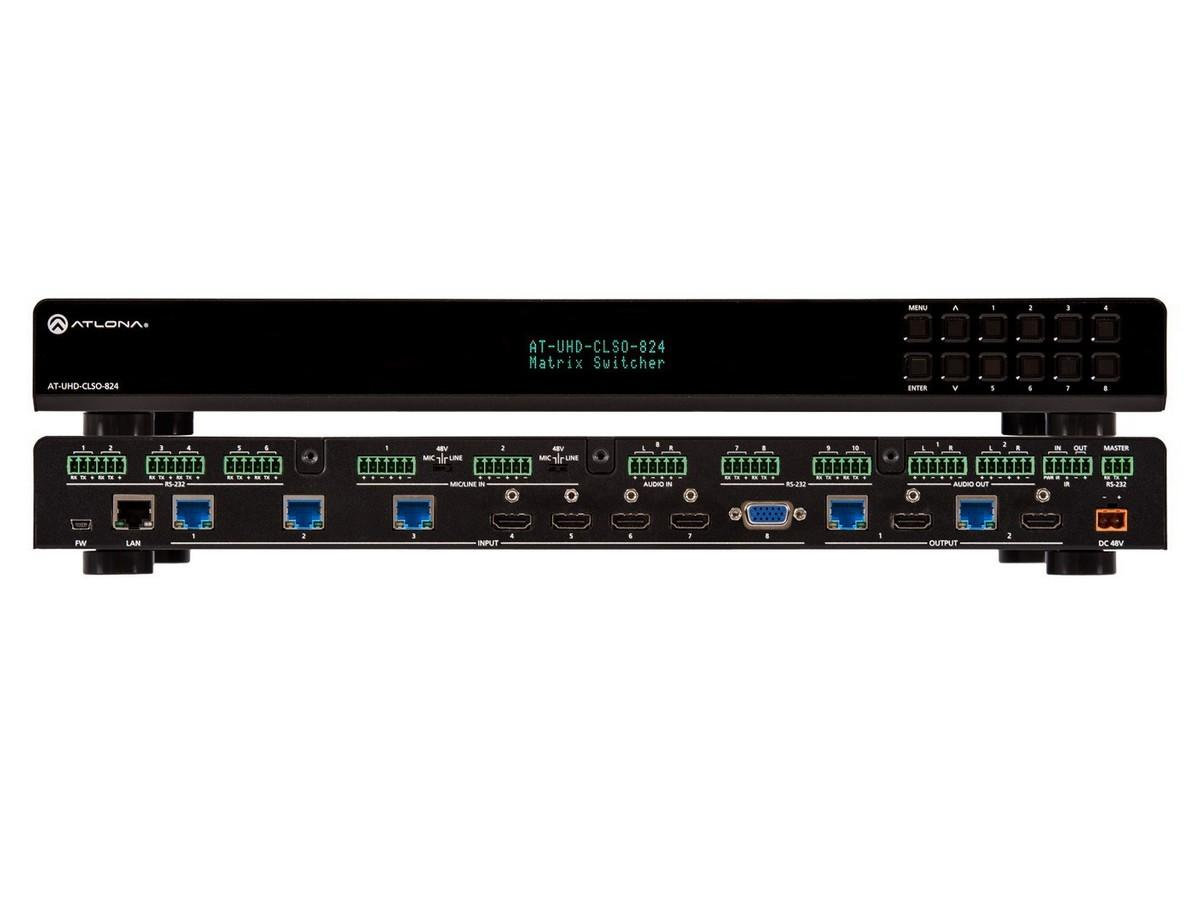 AT-UHD-CLSO-824 4K/UHD 8x2 Presentation Matrix Switcher by Atlona