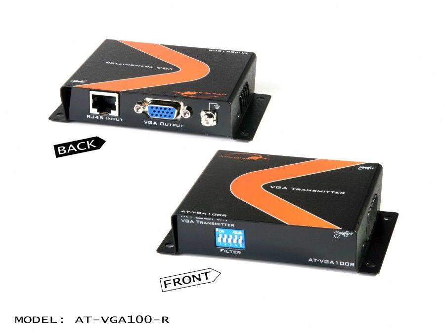 AT-VGA100-R Passive VGA Extender (Receiver) up to 330ft over 1 x CAT5/6/7 Cable by Atlona