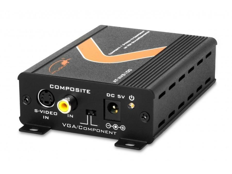 AT-AVS100 composite or S-Video to component or VGA scaler and converter by Atlona