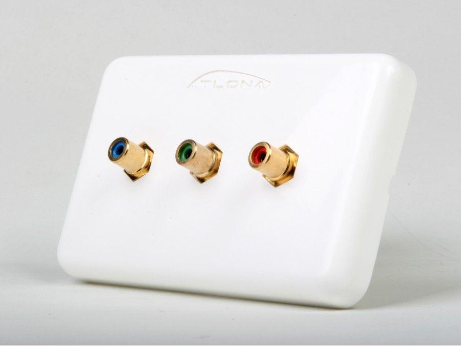 AT80COMP3 (3-Rca) Component Video Wall Plate by Atlona