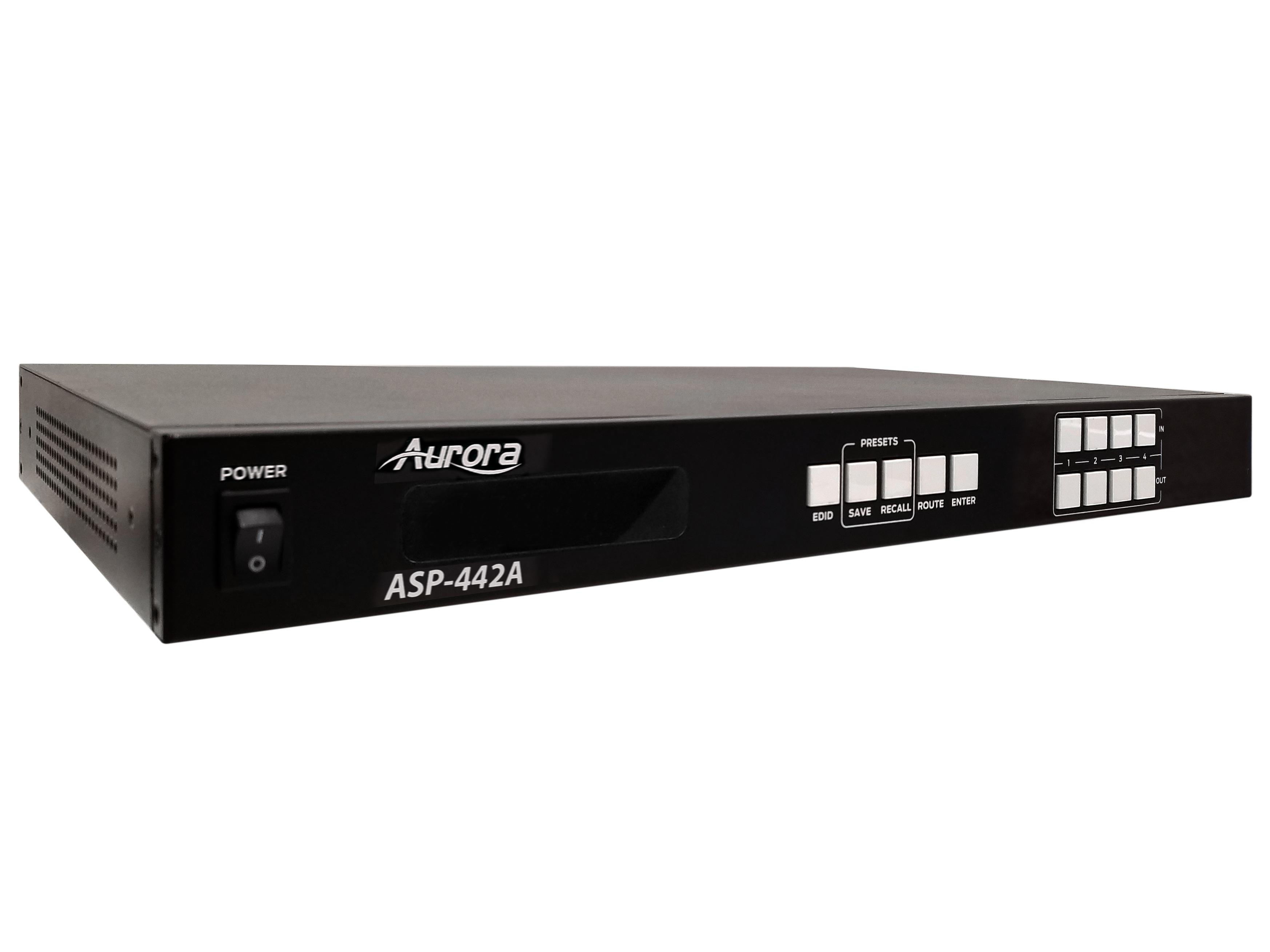 ASP-442A 4x4 HDMI 2.0A Matrix Switcher 4K60Hz UHD by Aurora Multimedia