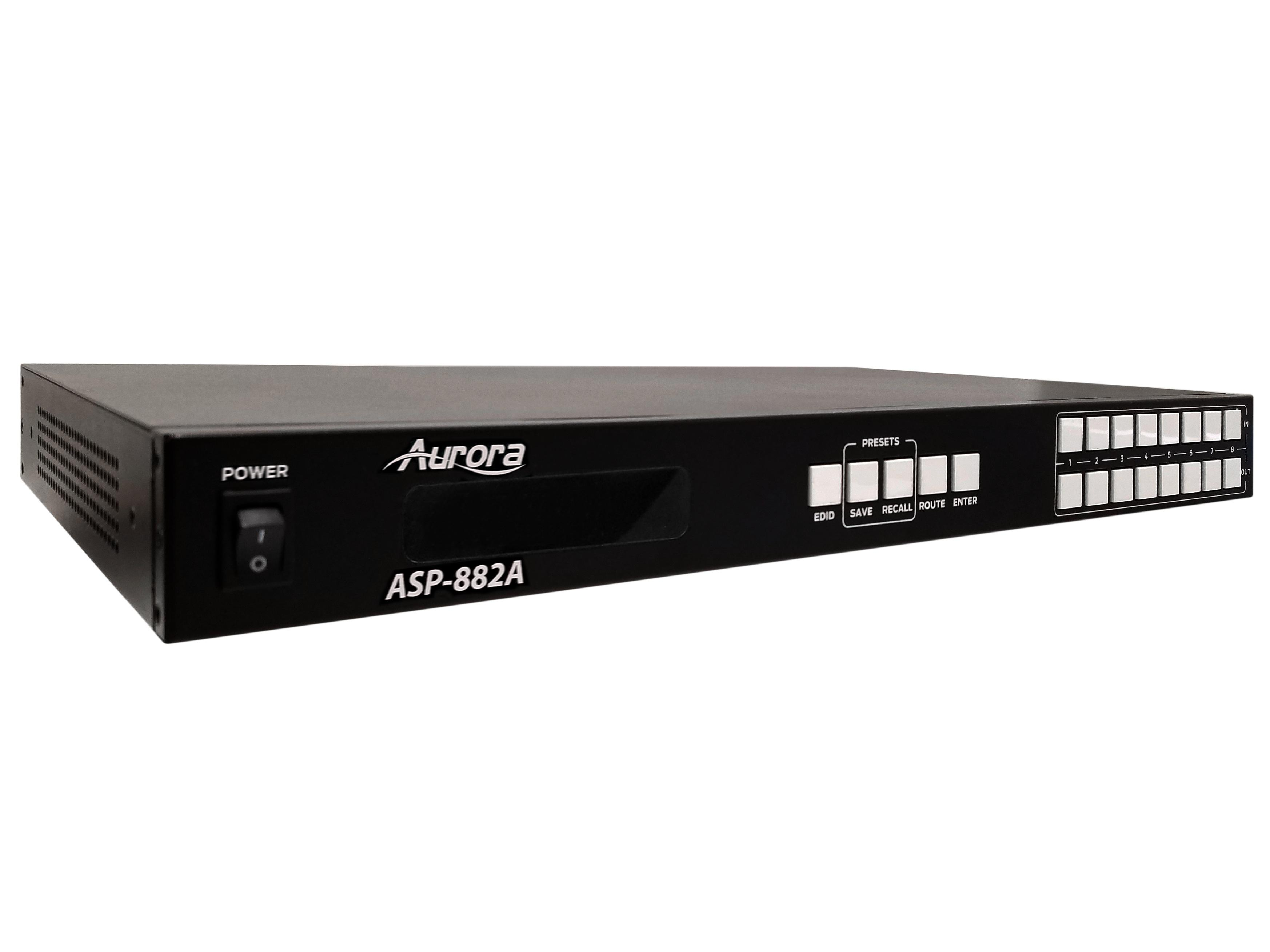 ASP-882A 8x8 HDMI 2.0A Matrix Switcher 4K60Hz UHD by Aurora Multimedia