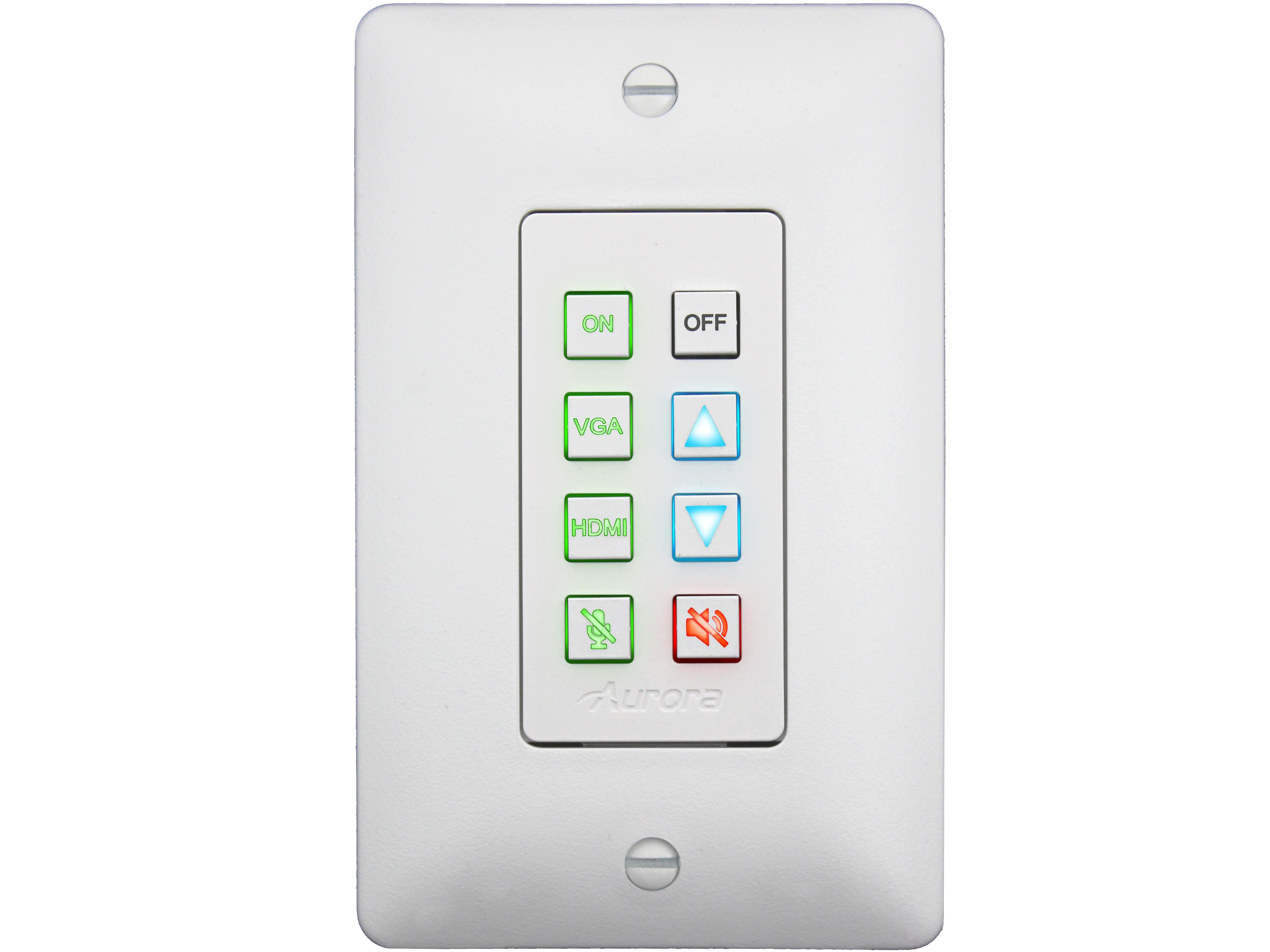 DXB-8i-W 8-Button Ethernet Backlit Panel/White by Aurora Multimedia
