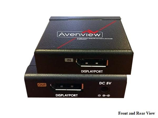 C-DP4K-EXT 4K Displayport Repeater and Signal Enhancer by Avenview