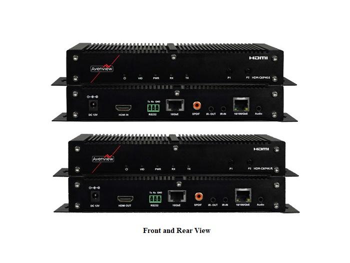 HDM-C6IP4K-SET HDMI Ultra-HD (4K2K) IP Extender (Transmitter/Receiver)Set Over CATX by Avenview