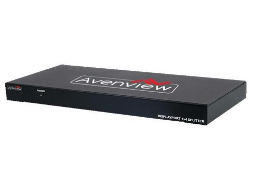 SPLIT-DPDL-4A 1x4 DisplayPort Splitter w PCM and 2560x1600 Support by Avenview