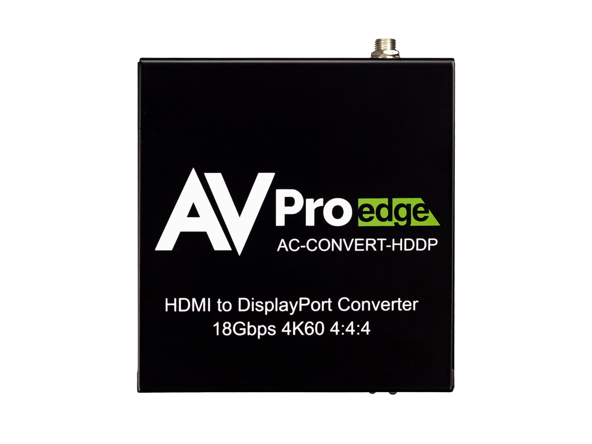 AC-CONVERT-HDDP 4K60 18Gbps 1x2 HDMI to Displayport Converter and Distribution Amplifier by AVPro Edge