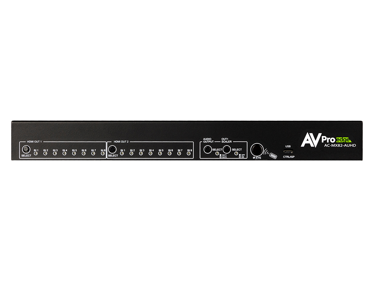 AC-MX82-AUHD 8x2 4K60 18Gbps HDMI Slim Matrix and Auto Switch/AVR Bypass by AVPro Edge