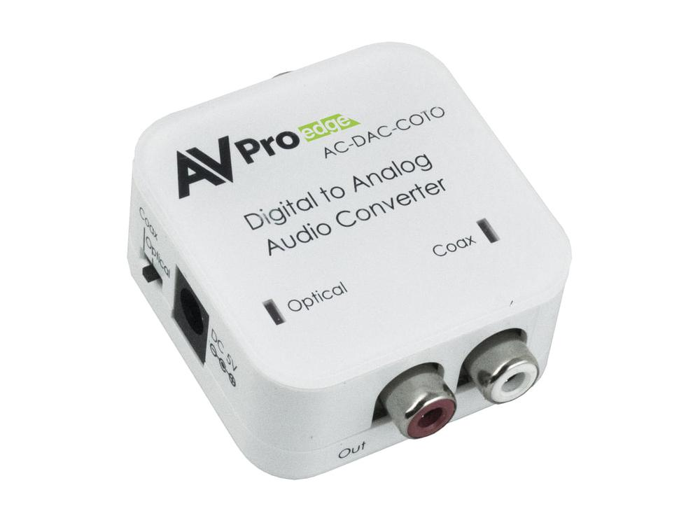 AC-DAC-COTO Digital to Analog AudioConverter by AVPro Edge