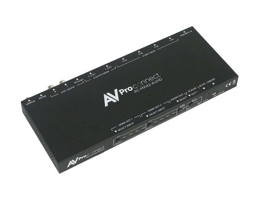 AC-MX42-AUHD 4x2 HDMI 18 GBPS Matrix Switch with Scaler by AVPro Edge