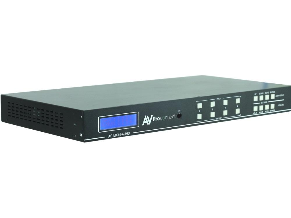 AC-MX44-AUHD 18Gbps True 4K/60 AUHD 4x4 Matrix Switch by AVPro Edge