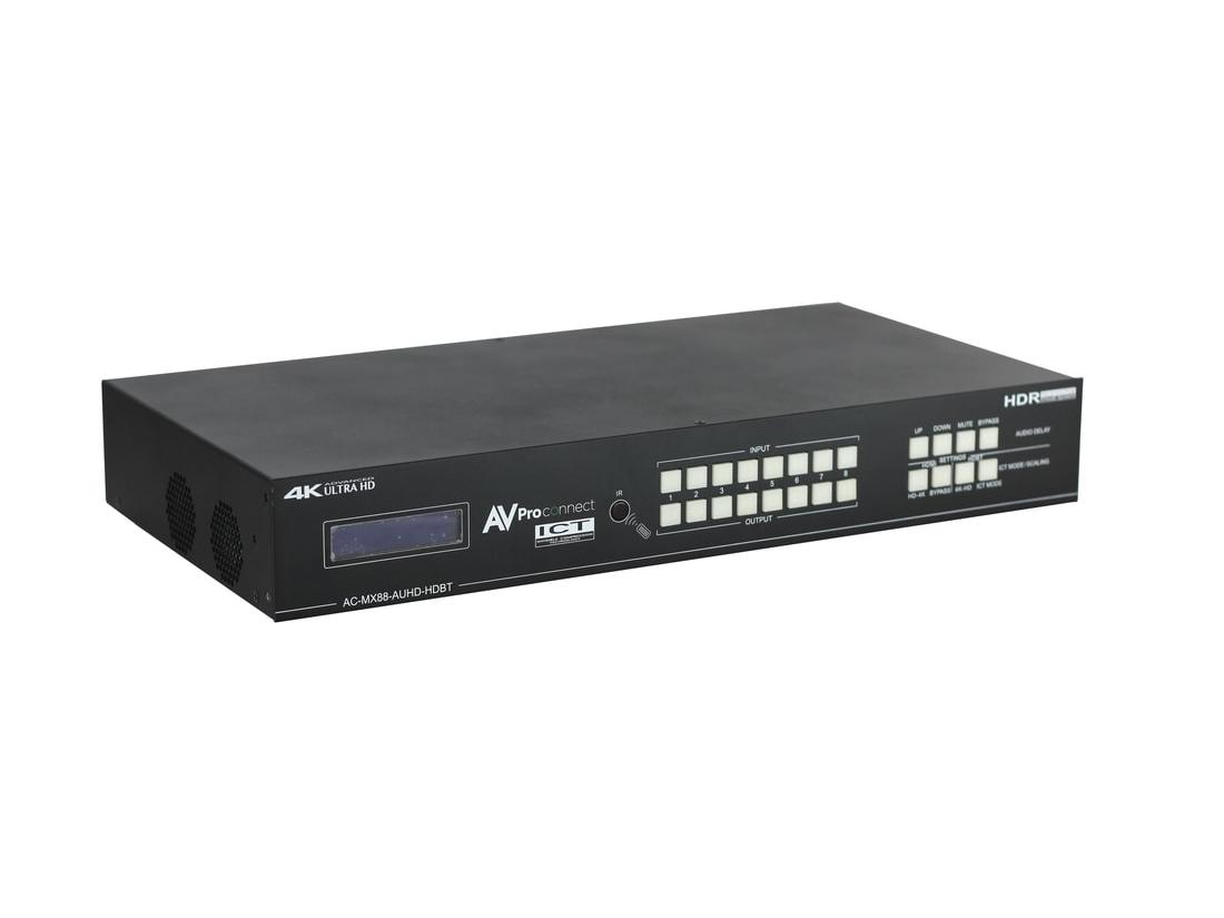 AC-MX88-AUHD-HDBT 8x8 HDBaseT Matrix Switch with ICT/HDMI/IR/RS-232/Audio Matrixing (Full HDR/4K60) by AVPro Edge