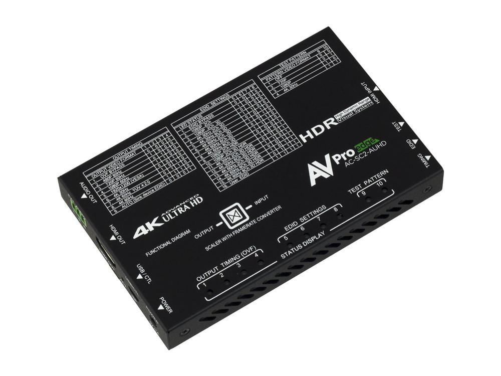AC-SC2-AUHD-GEN2 4K Up/Down HDMI Scaler with 480 to 4K and Adaptive scaling by AVPro Edge