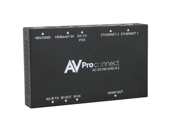 AC-EX100-UHD-R2 100M HDBaseT Extender (Receiver) with RS-232/Optional Power Included by AVPro Edge