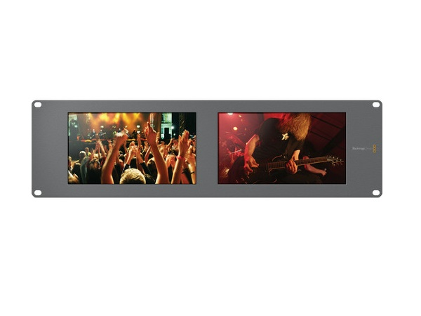 BMD-HDL-SMTVDUO2 SmartView Duo 2 Rackmountable Dual 8 inch LCD Monitors by Blackmagic Design
