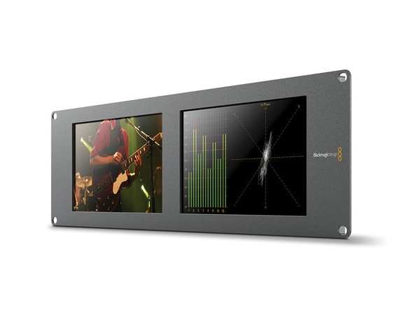BMD-HDL-SMTWSCOPEDUO4K2 SmartScope Duo 4K 2 Rack-Mounted Dual 6G-SDI Monitors by Blackmagic Design