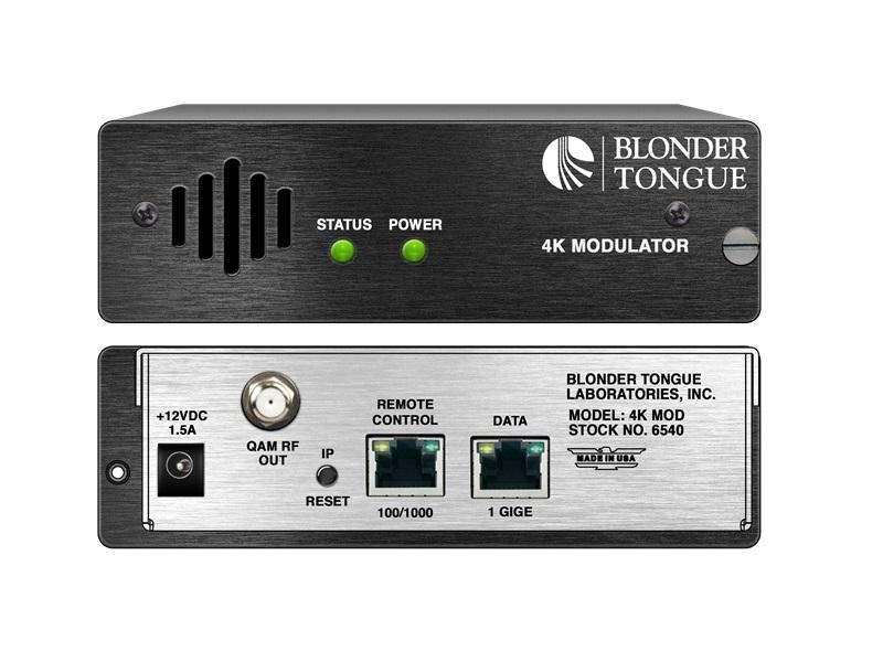4K MOD 4K Modulator/4 x IP Inputs/4 x QAM Outputs by Blonder Tongue